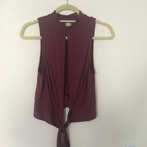 Sleeveless Mauve Top with Cut Out